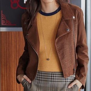 Urban Outfitters Moto Brown Jacket